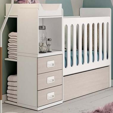 Cuna Nogal para bebes